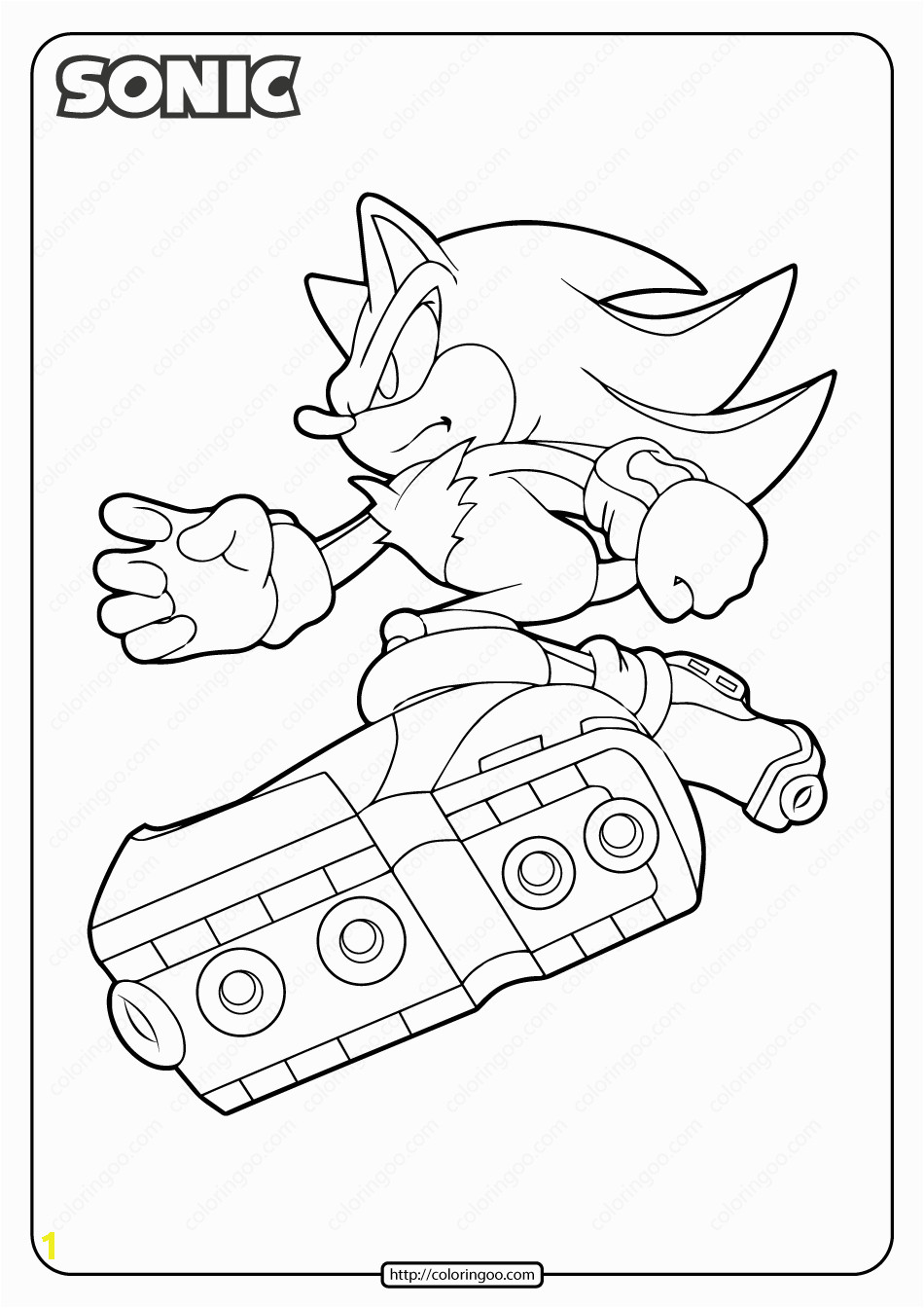 printable sonic the hedgehog pdf coloring pages
