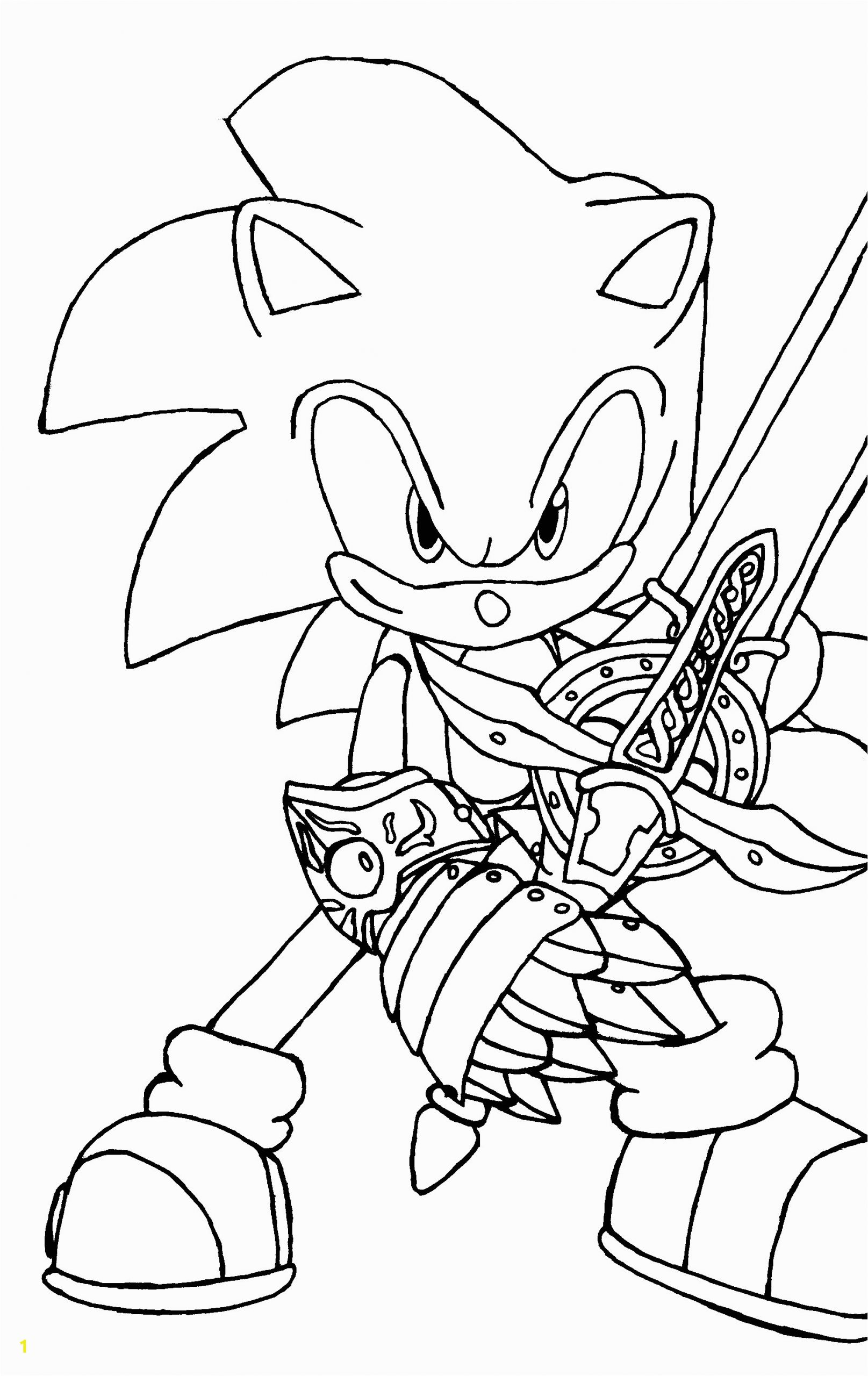 sonic the werehog coloring pages to print