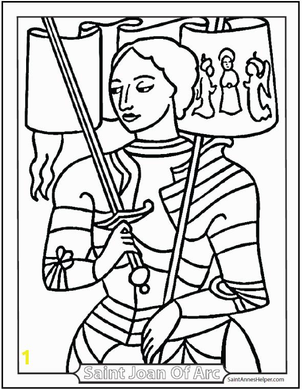 saint joan of arc coloring
