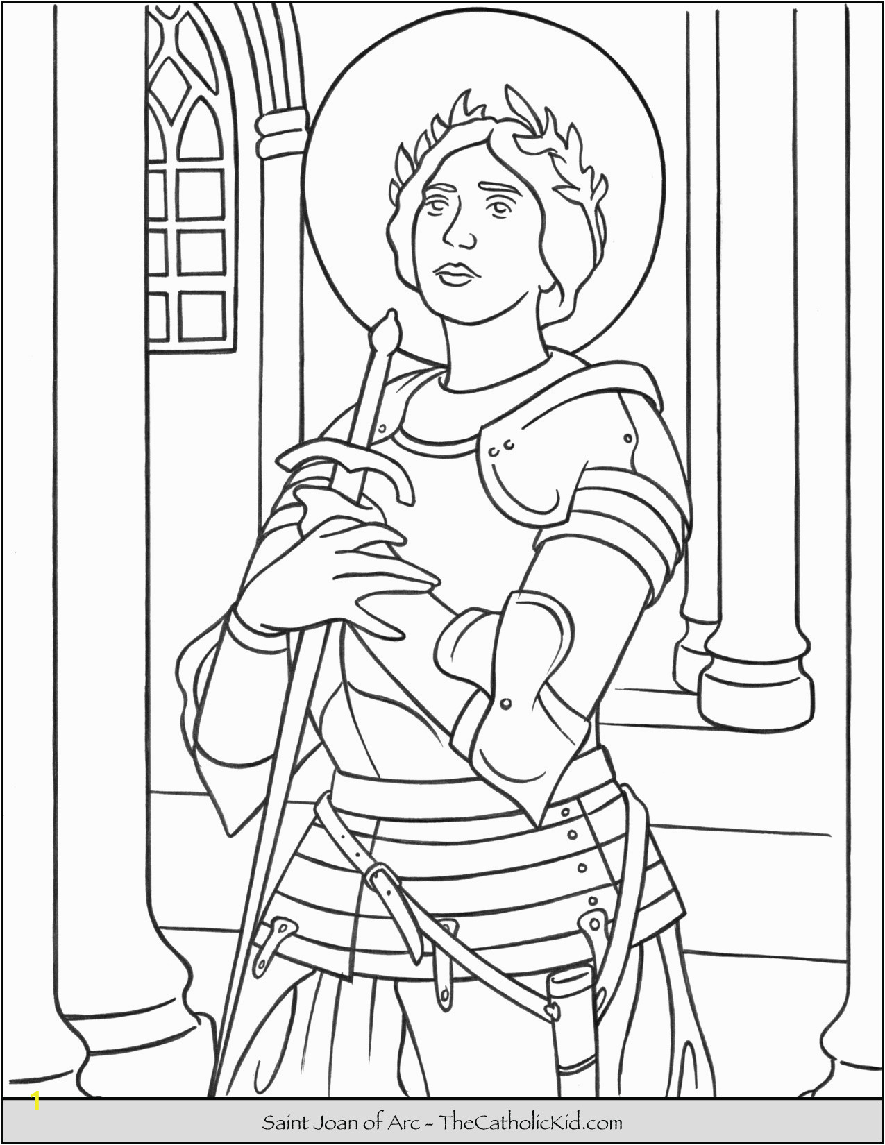 saint joan of arc coloring page cnt mls