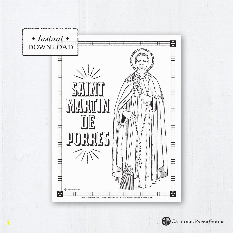 catholic coloring page saint martin de