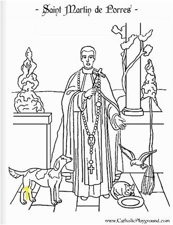 saint martin de porres coloring page november 3rd