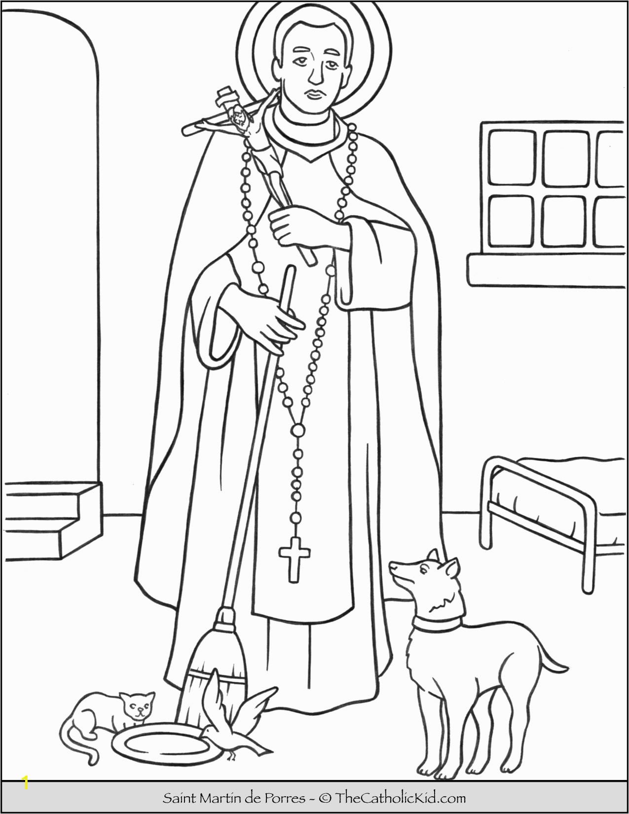 saint martin de porres coloring page cnt mls