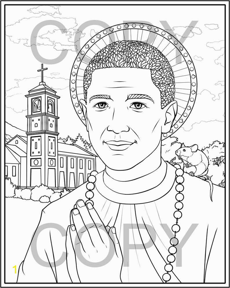 saint martin de porres coloring pages