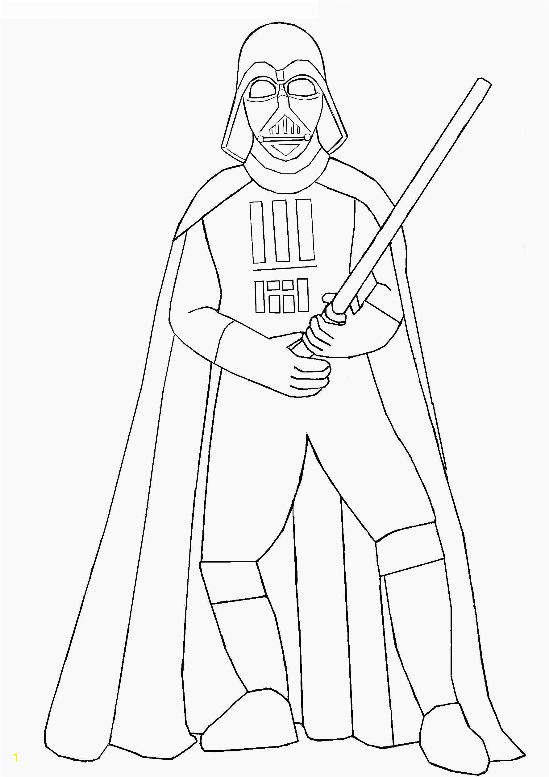 Darth Vader Holding Lightsaber