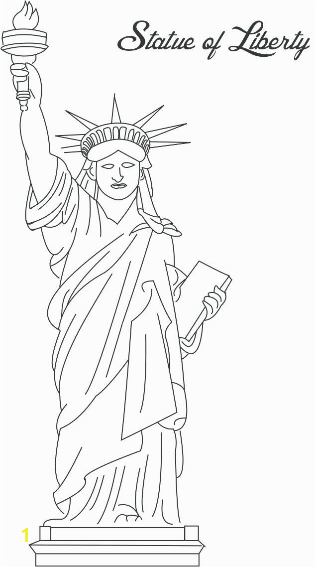 Statue Of Liberty Coloring Pages for Kindergarten Statue Liberty Coloring Pages for Kindergarten at