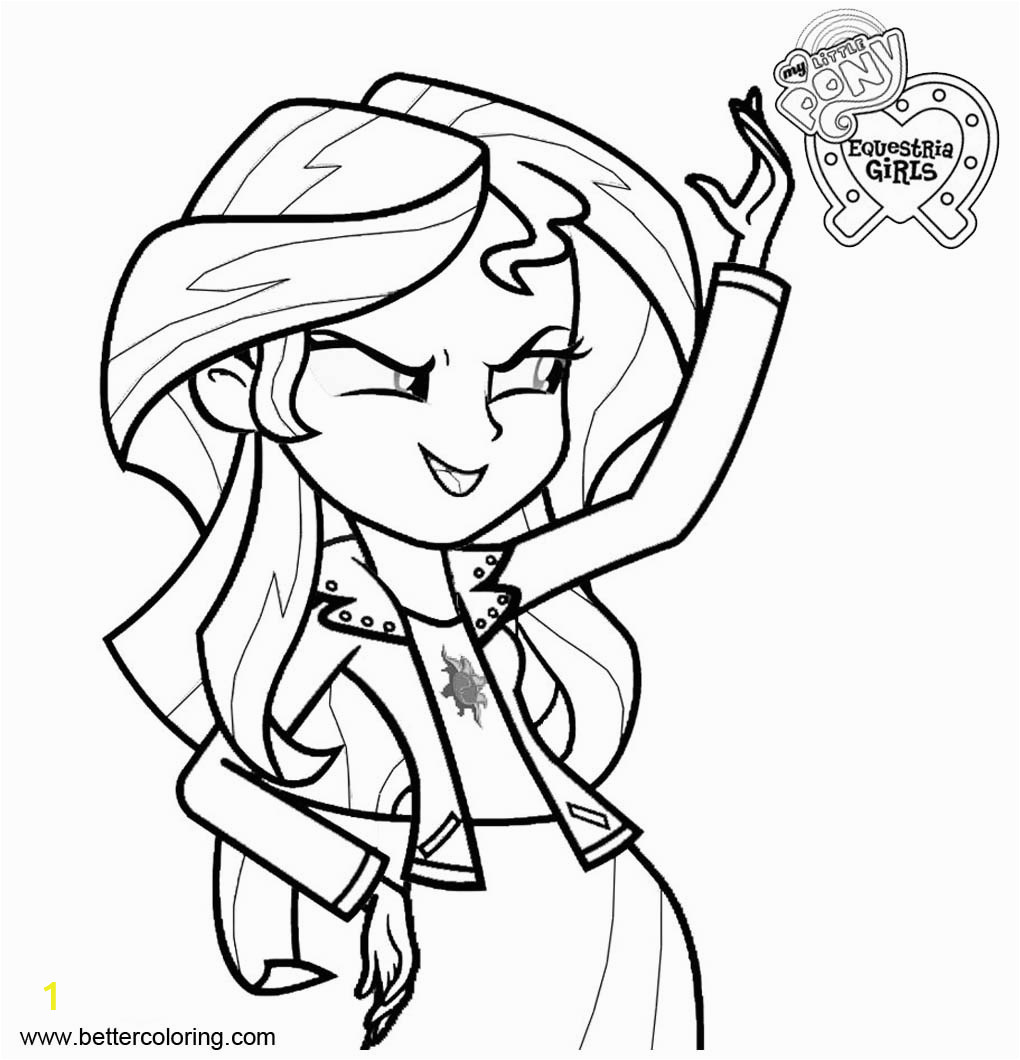 sunset shimmer from my little pony equestria girls coloring pages