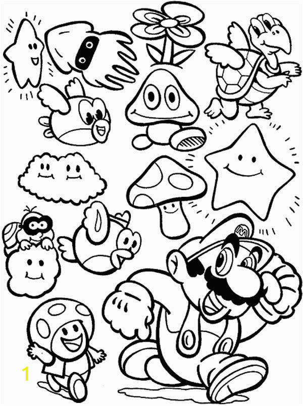 mario all bad guy coloring pages
