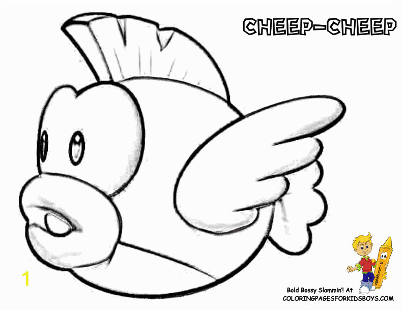 mario bad guys coloring pages