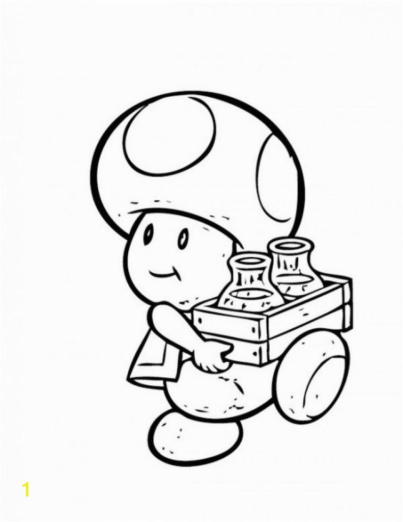 mario toad drawing