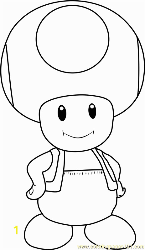 Super Mario Brothers toad Coloring Pages toad Coloring Page Free Super Mario Coloring Pages