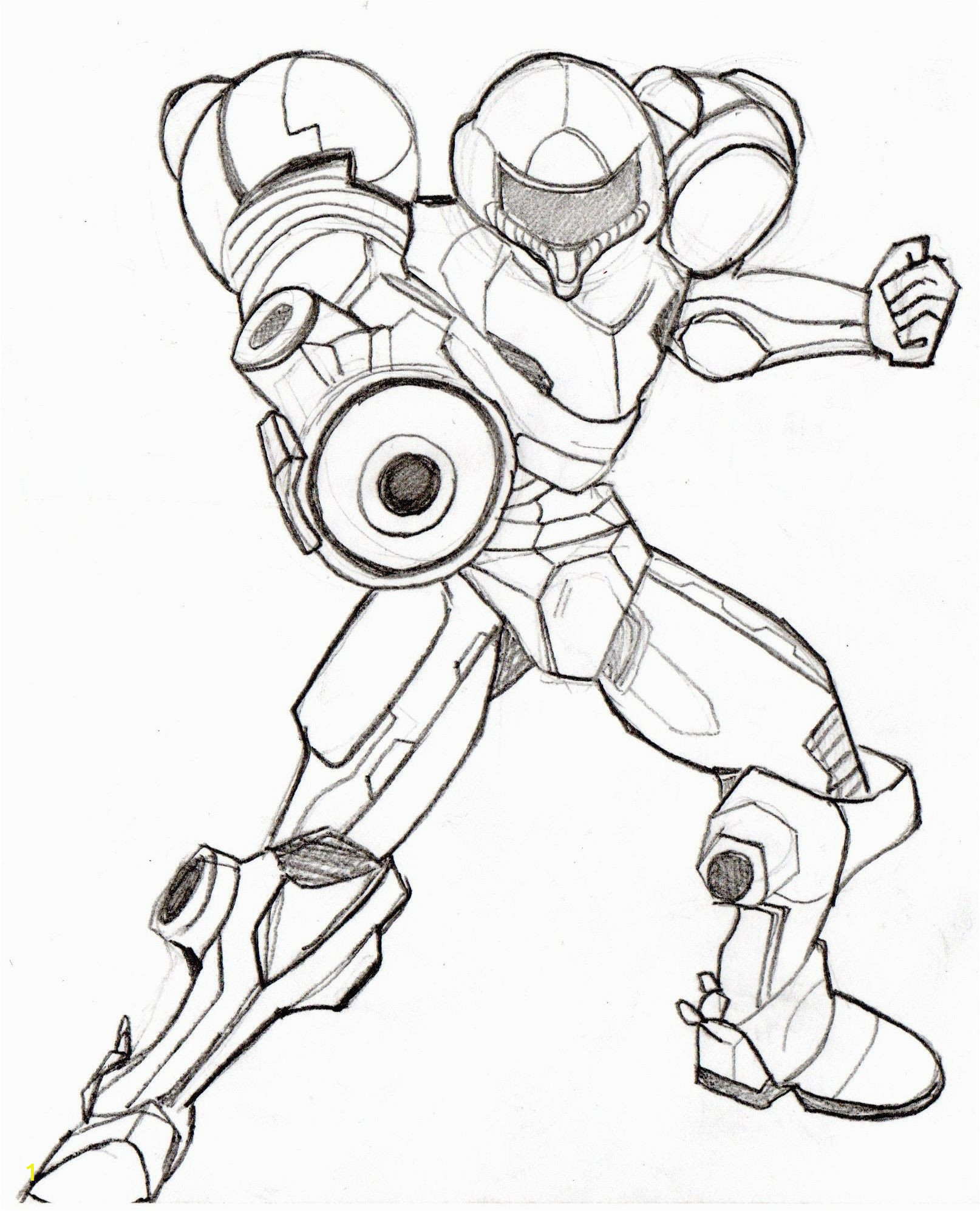 samus super smash bros coloring pages