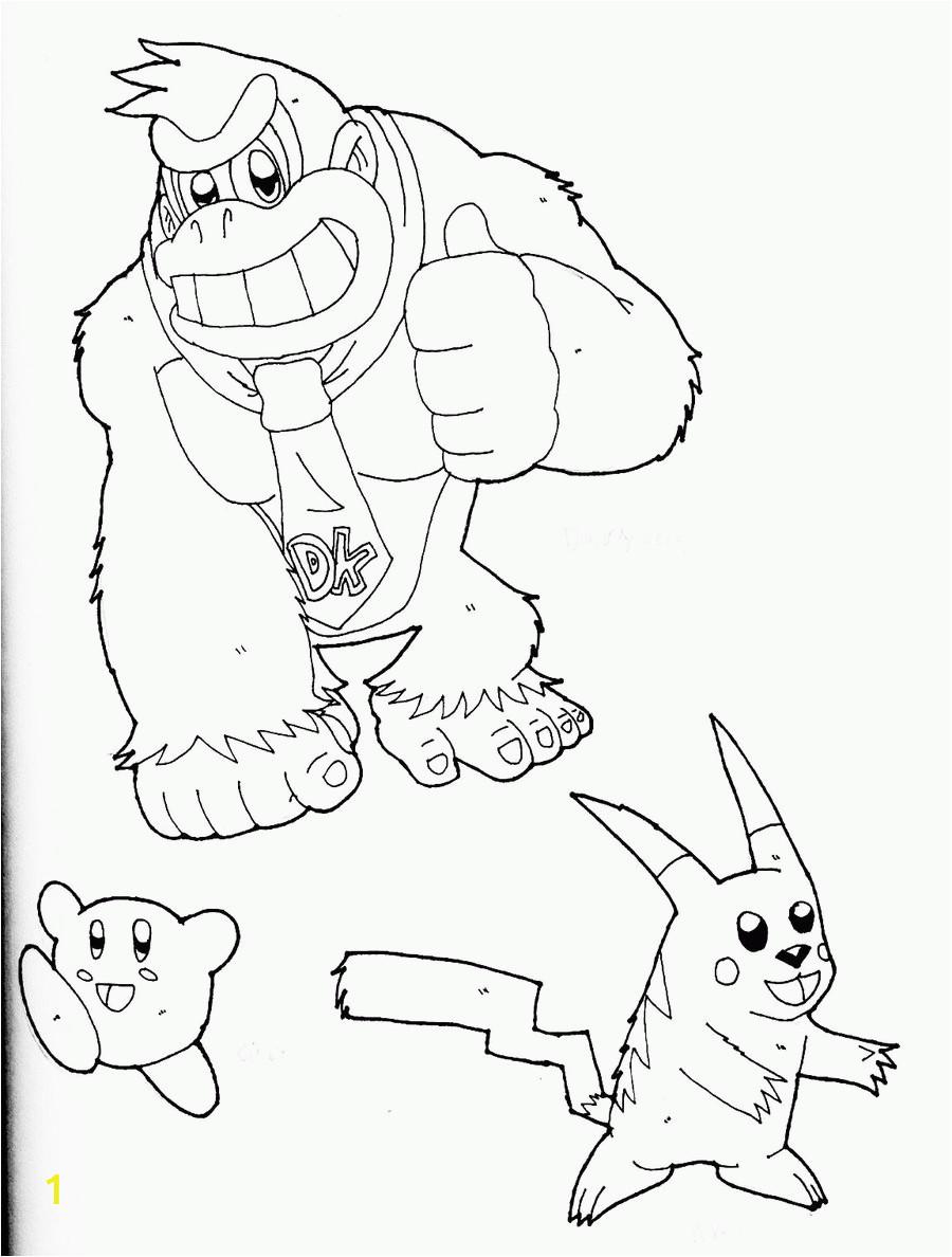 super smash bros coloring pages