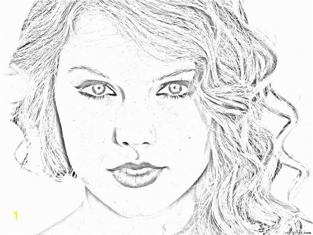 taylor swift free printable coloring pages