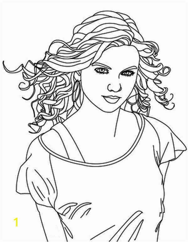 taylor swift is country singer coloring page