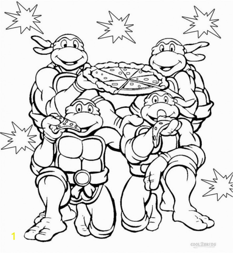 teenage mutant ninja turtles coloring pages free printable