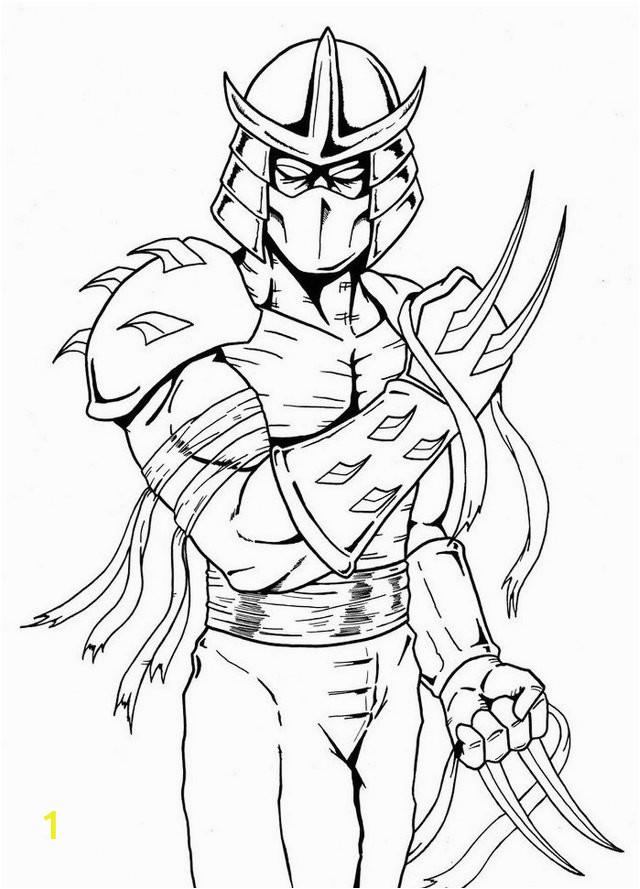 5 fantastic shredder tmnt coloring pages