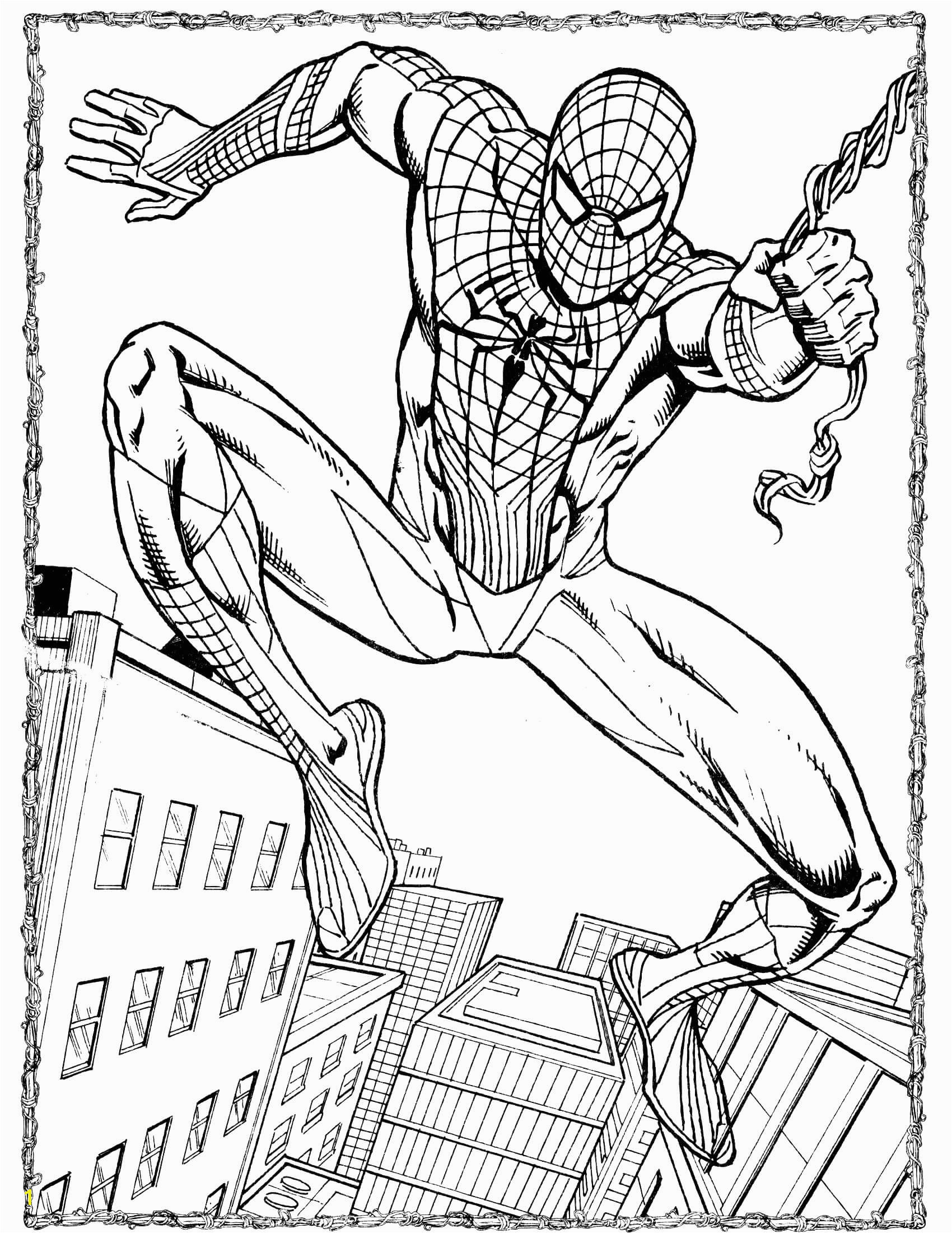 spider man coloring page 49