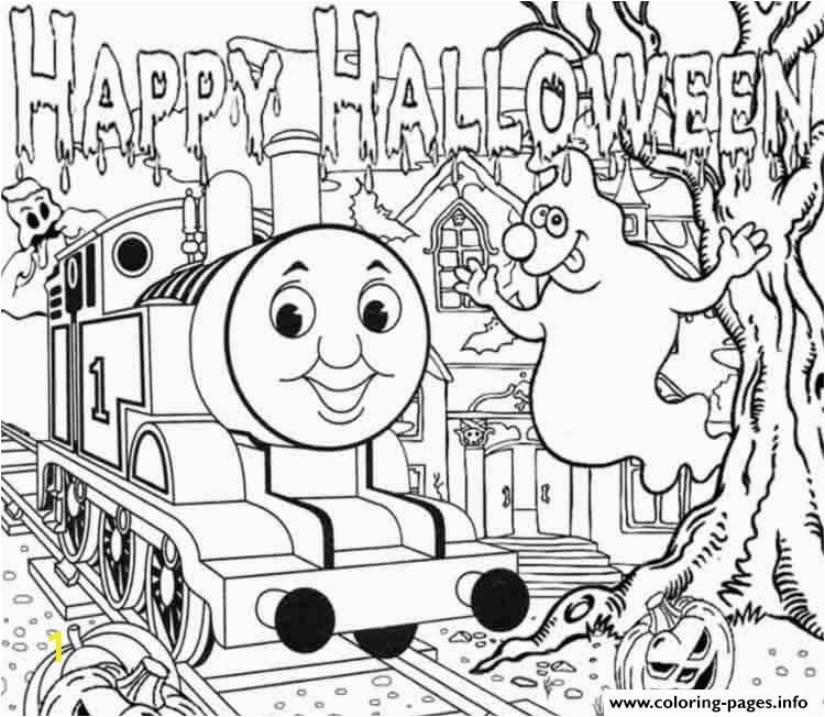Thomas the Train Halloween Coloring Pages Halloween Full Page Thomas the Train Sac35 Coloring Pages