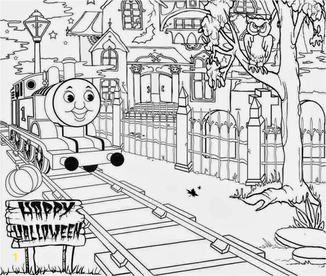 haunted thomas train halloween coloring
