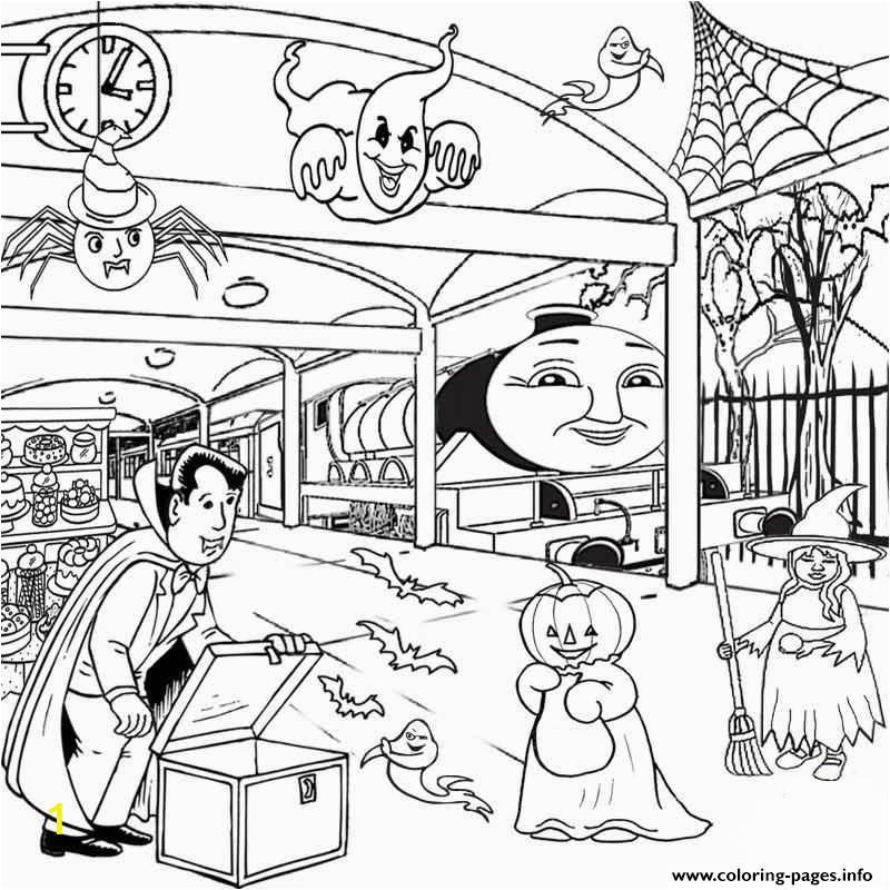 kids thomas the train halloween sa494 printable coloring pages book 6392