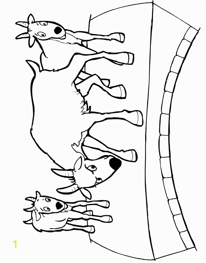Three Billy Goats Gruff Coloring Pages the 3 Billy Goats Gruff Fairy Tale Coloring Page
