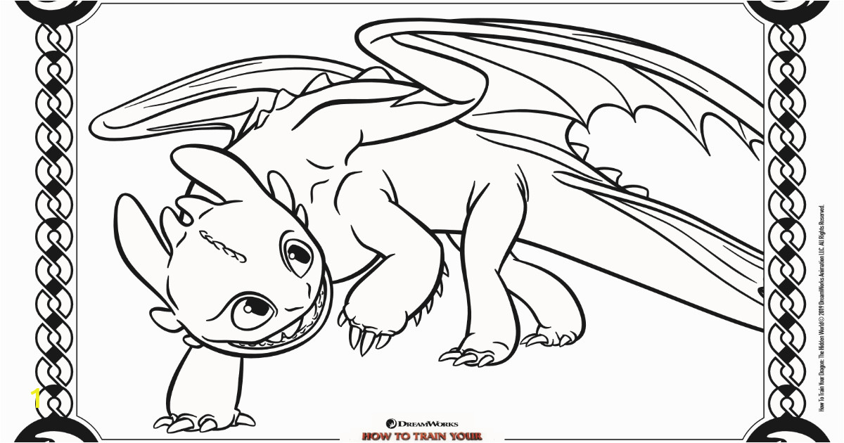 toothless coloring page