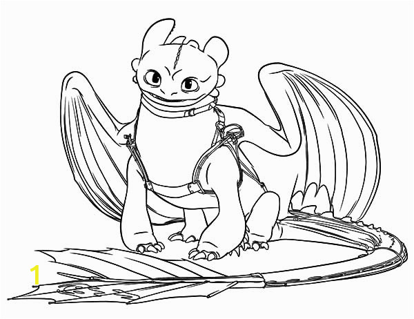 toothless sit calmly in how to train your dragon coloring pages 2