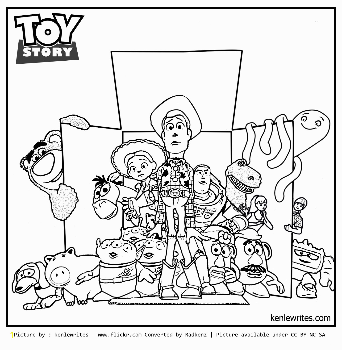 toy story 3 coloring page out of box