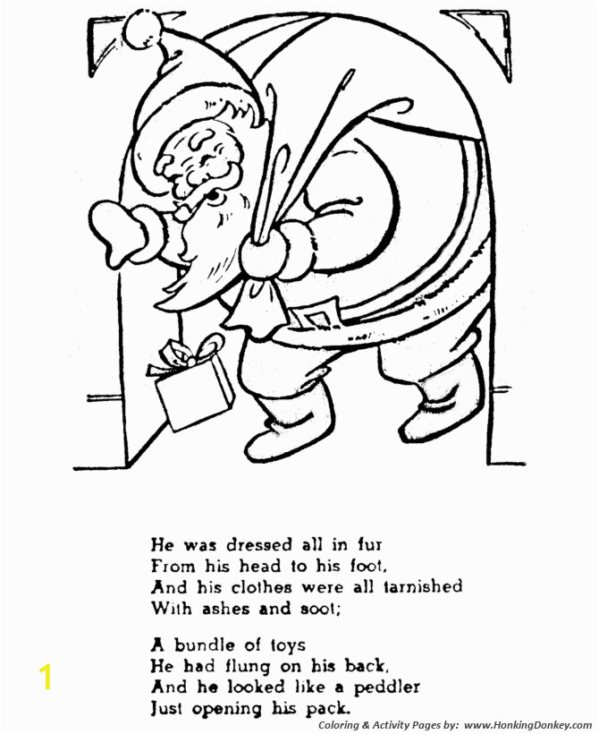 twas the night before christmas coloring sheets