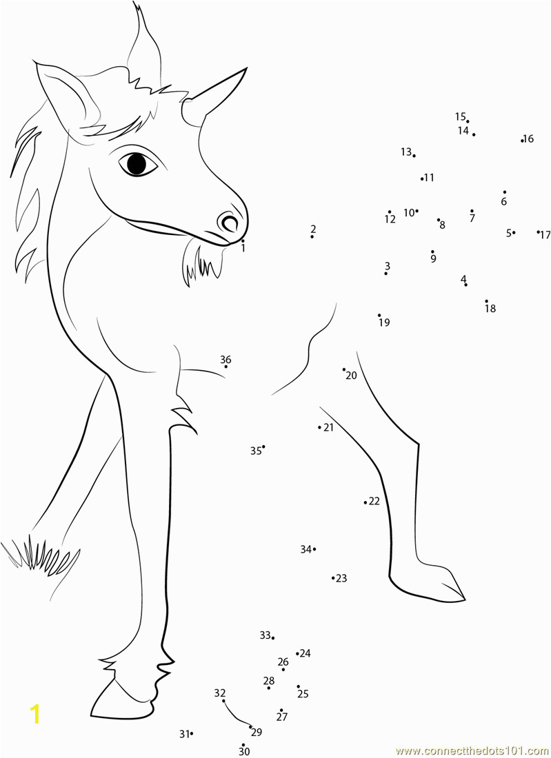 6470 Unicorn Baby dot to dot