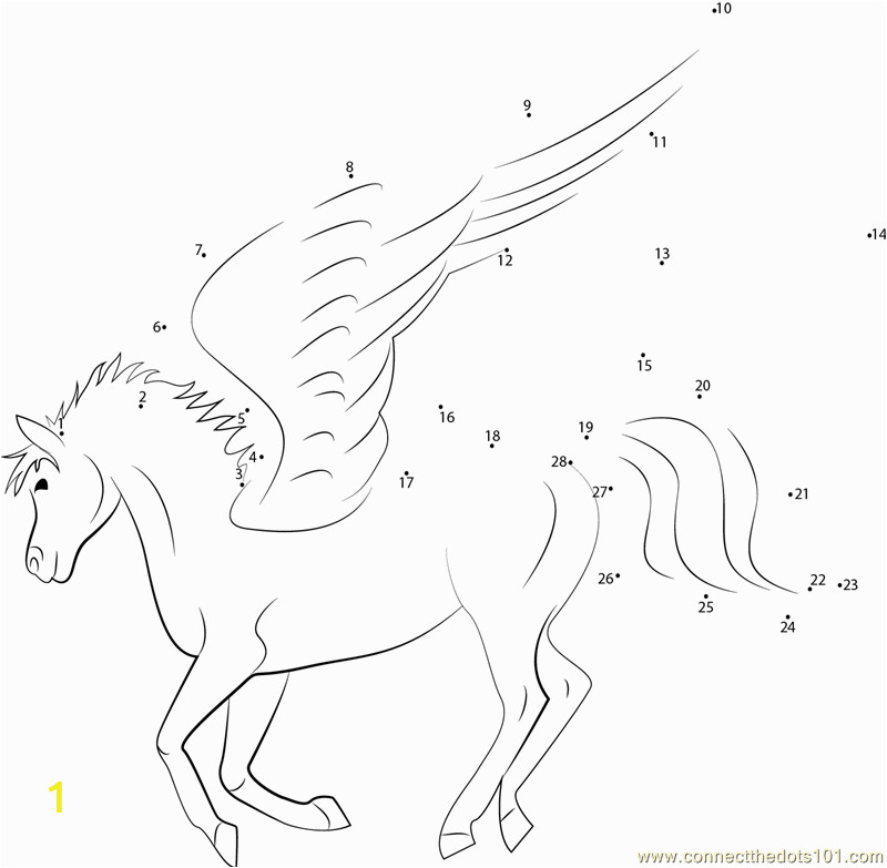 unicorn dot to dot coloring pages