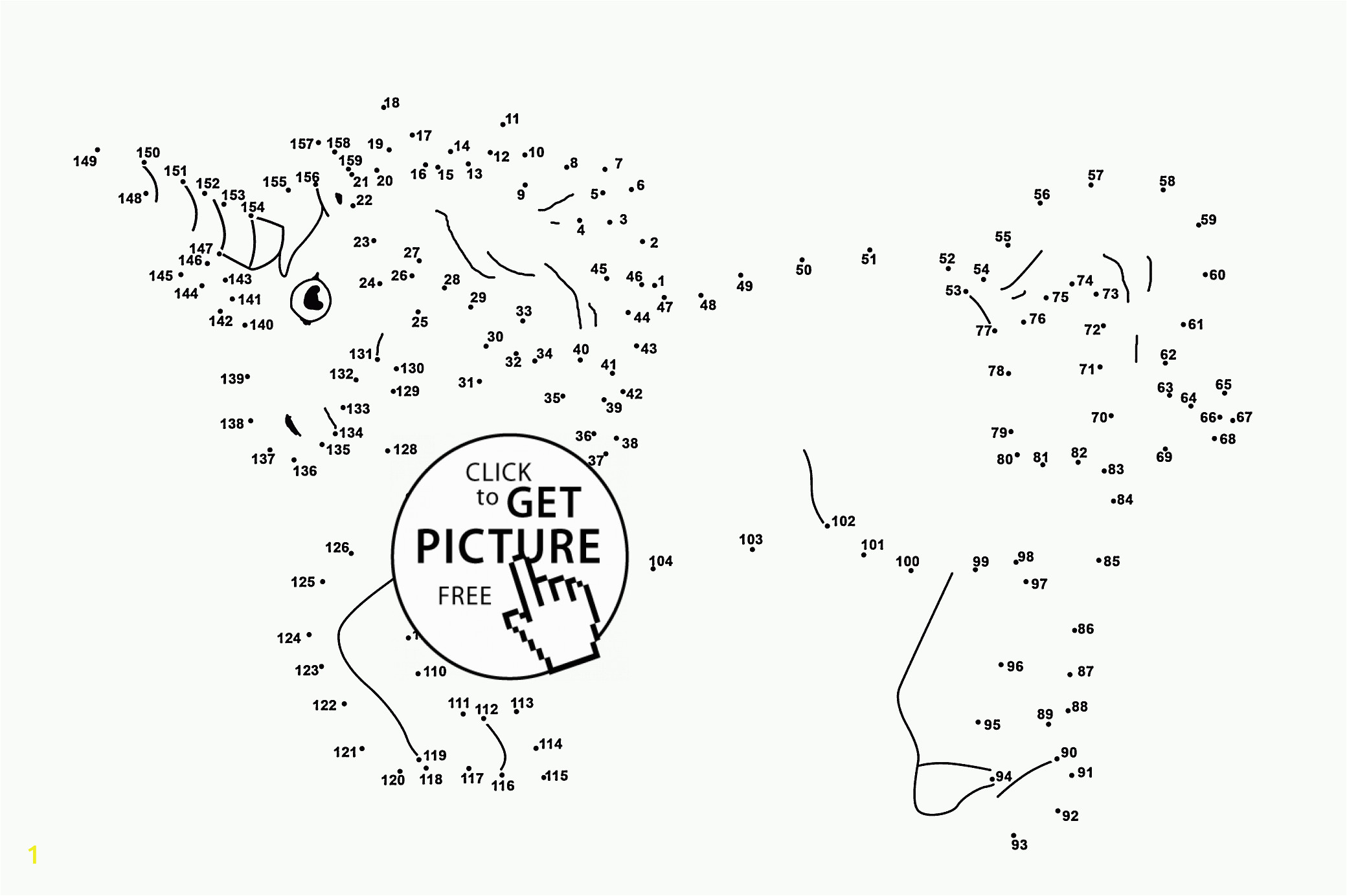 unicorn dot to dot numbers coloring pages for kids connect the dots printables free