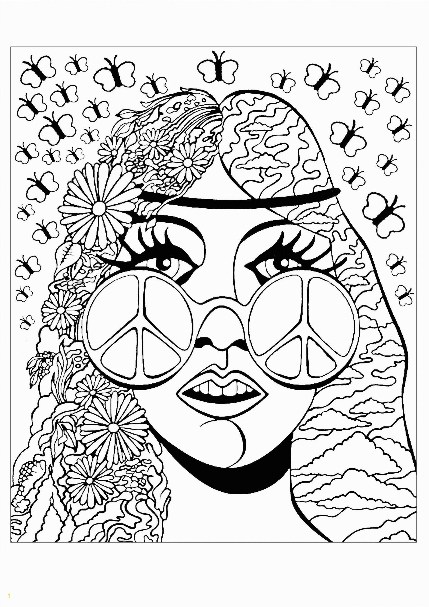 Unique Bohemian Coloring Pages for Adults Psychedelic Girl butterflies Psychedelic Coloring Pages