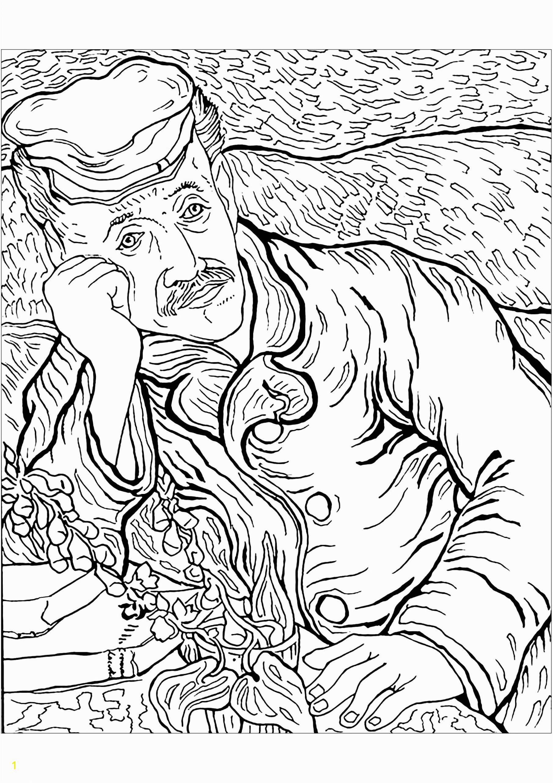 image=van gogh coloring pages for children vincent van gogh 1