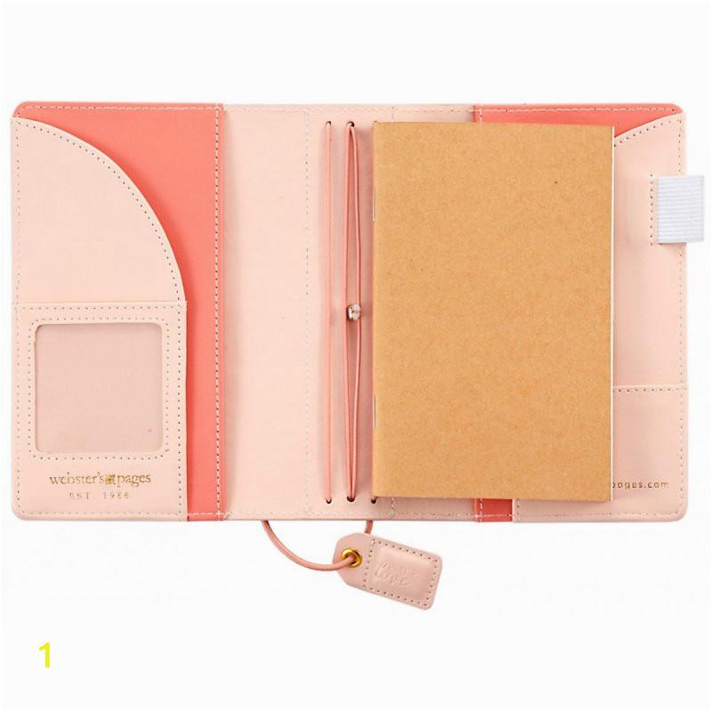 mini carnet de voyage webster s pages color crush travelers notebook rose pale