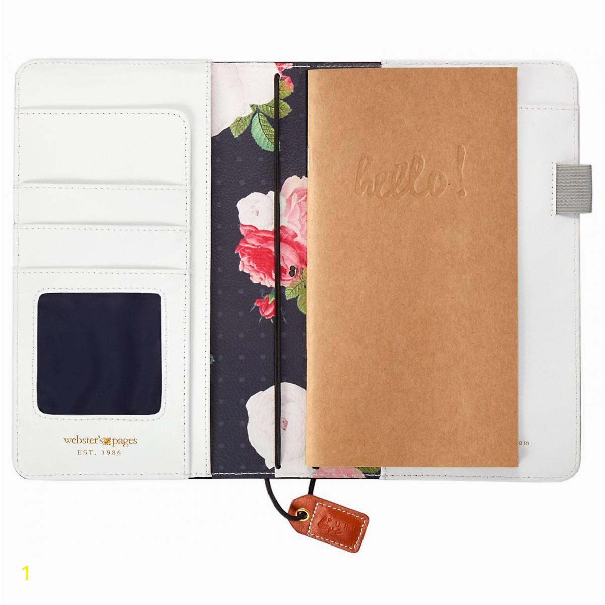 websters pages color crush travelers notebook planner black floral 2646