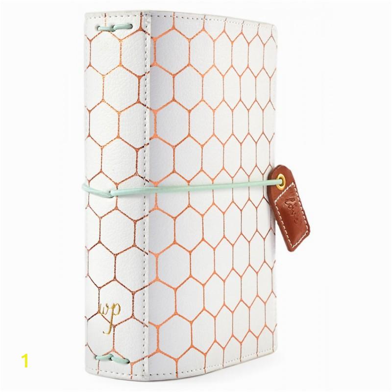 copper hexagon color crush pocket traveler s planner 425x6 webster s pages