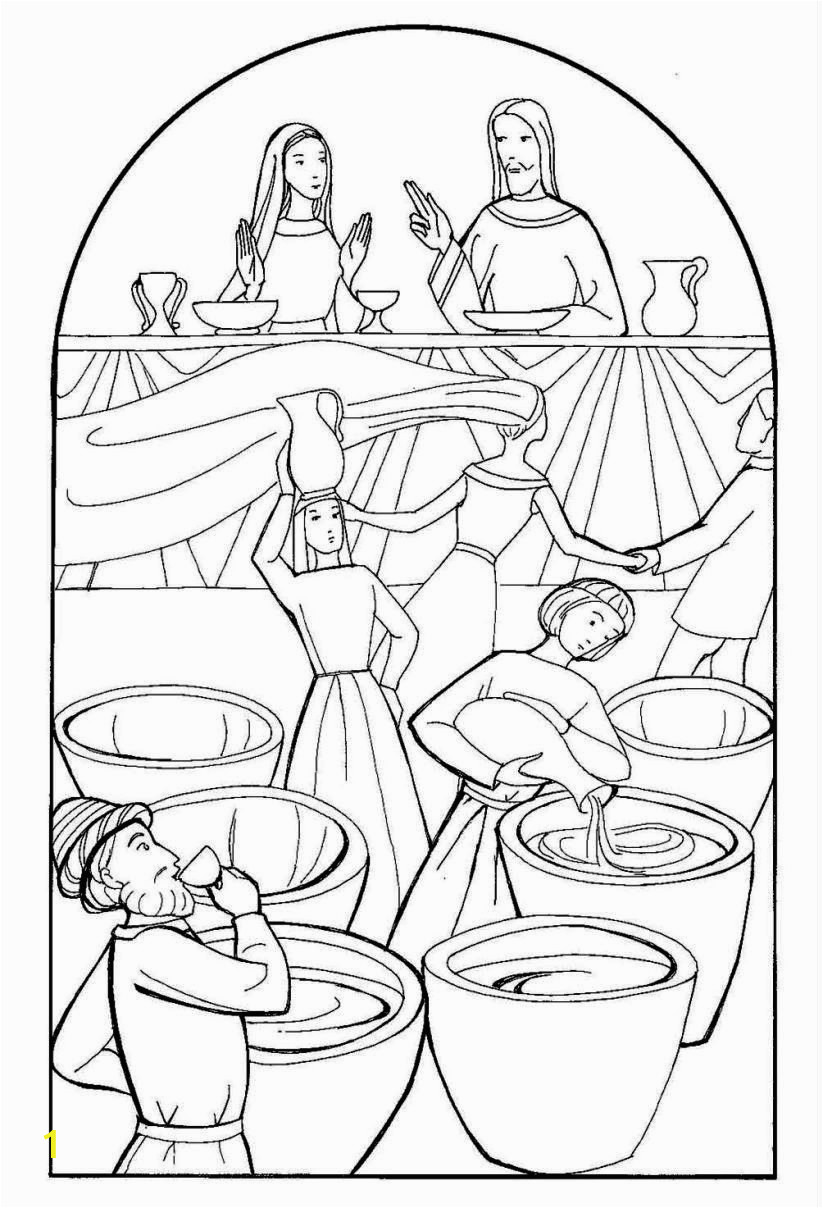 wedding at cana coloring page