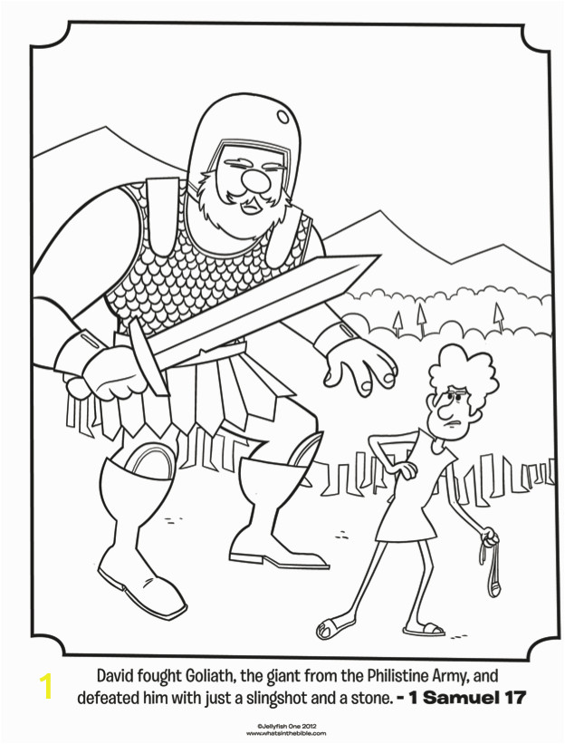 bible coloring pages king david