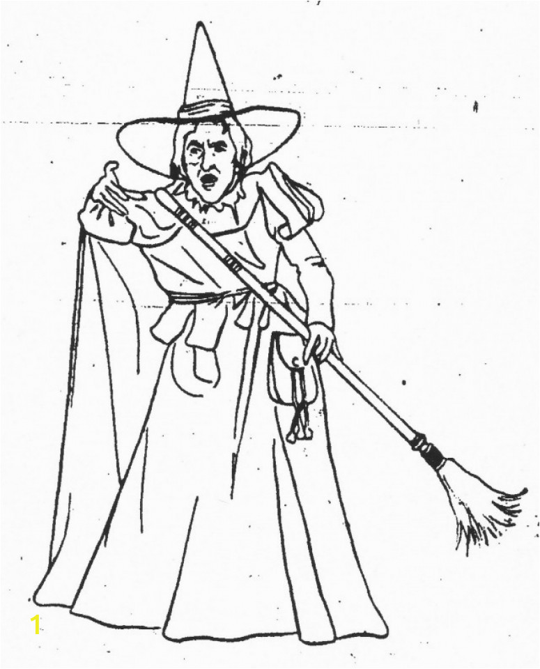 free printable wizard of oz coloring pages wicked witch of the west