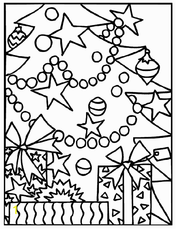 christmas ts under the tree coloring page