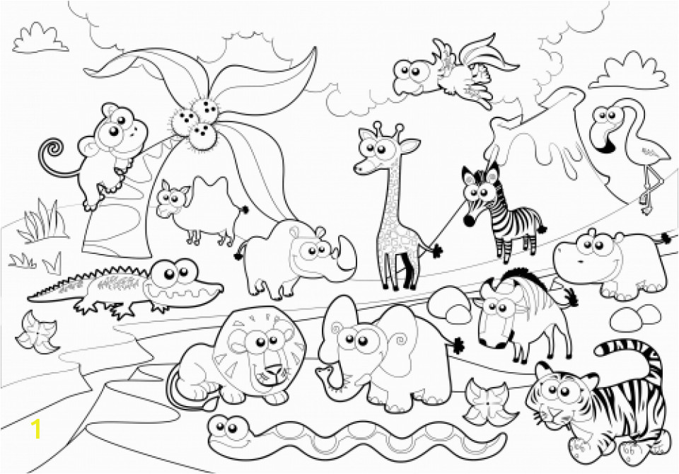 online zoo coloring pages for kids