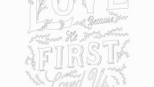 1 John 4 19 Coloring Page 1 John 4 19 — Scripture Type