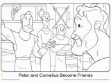 1 Peter Coloring Pages Free Peter and Cornelius Coloring Page On Sunday School Zone