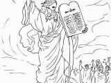 10 Commandments Coloring Pages Ten Mandments Ten Mandments for Moses People Coloring Page