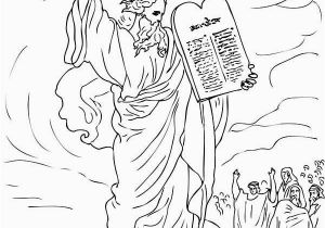 10 Commandments Coloring Pages Ten Mandments Ten Mandments for Moses People Coloring Page