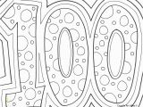 100 Days Of School Printable Coloring Pages 100th Day Of School Celebration Classroom Doodles