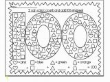 100 Days Of School Printable Coloring Pages 100th Day Of School Coloring Pages Printable Kids Super Day