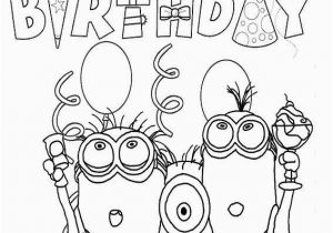 13 Year Old Coloring Pages Happy Birthday Minion Template for Children Happy Birthday Coloring